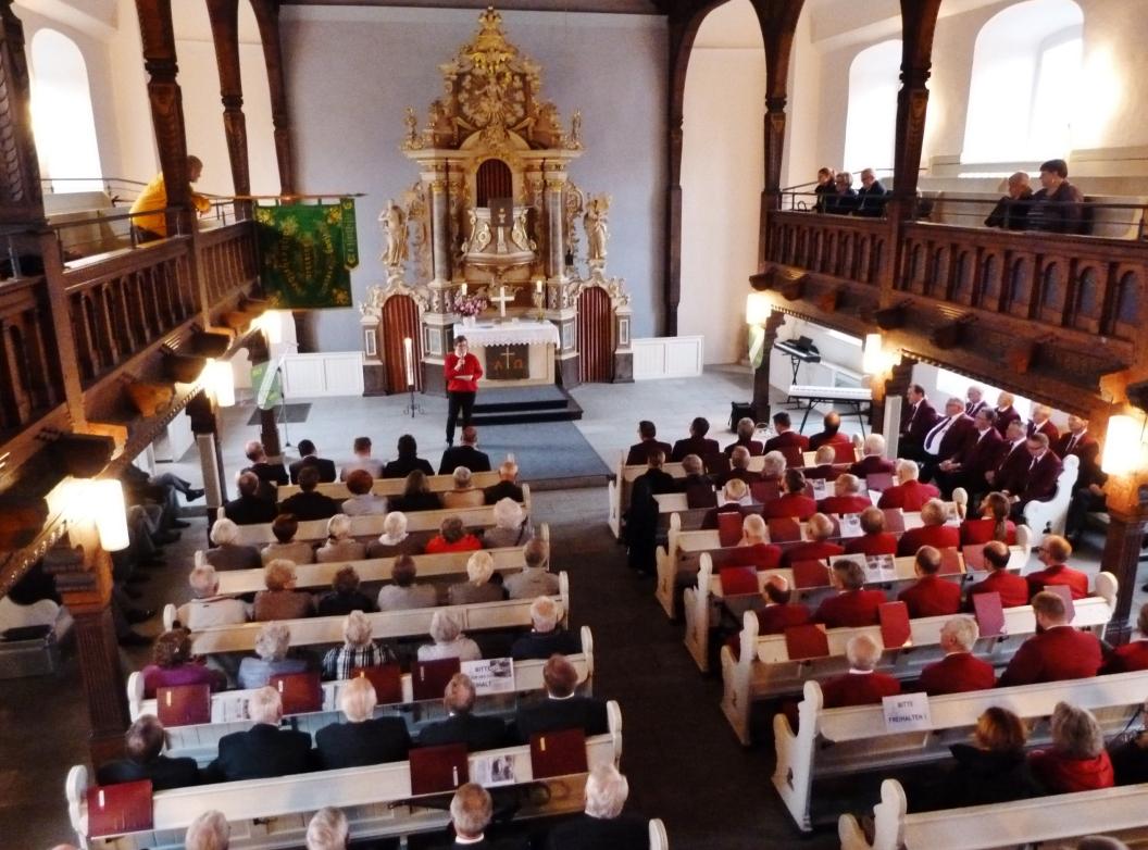 Pastorin Kröger beim Jubiläum